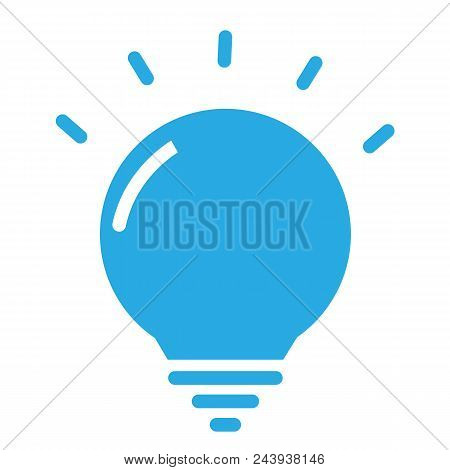 Creative Icon In Trendy Flat Style On White Background. Blue Creative Symbol For Your Web Site Desig