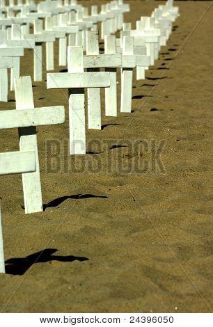 Memorial On The Beach.