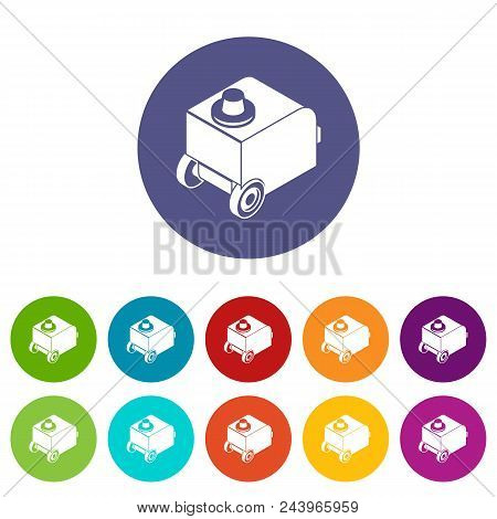 Welding Machine Icons Color Set Vector For Any Web Design On White Background