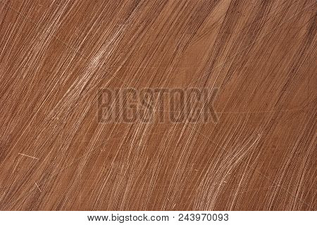 Copper Texture. Scratched Metal Surface, Detailed Close-up. Shabby Metallic Background