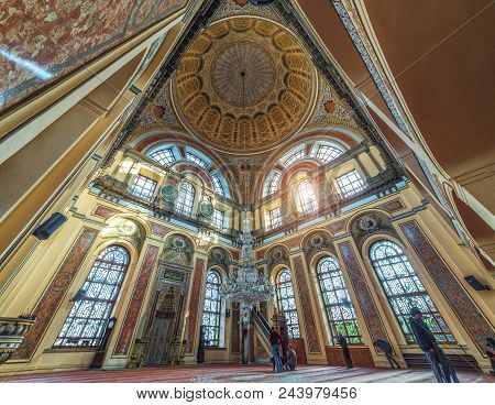 Istanbul, Turkey: Interior Of Dolmabahce Mosque, As A Part Of Dolmabahce Palace Located On The Bosph