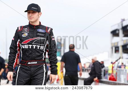 June 02, 2018 - Long Pond, Pennsylvania, USA: Kaz Grala (61) hangs out on pit road before qualifying for the Pocono Green 250 at Pocono Raceway in Long Pond, Pennsylvania.