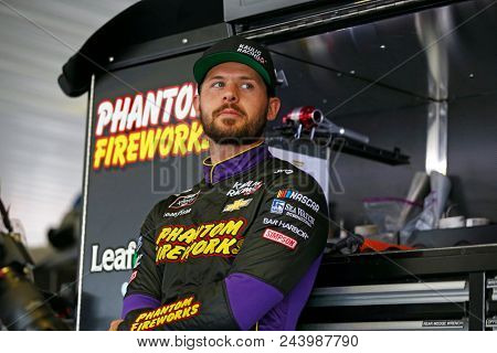 June 01, 2018 - Long Pond, Pennsylvania, USA: Ryan Truex (11) hangs out in the garage prior to practice for the Pocono Green 250 at Pocono Raceway in Long Pond, Pennsylvania.