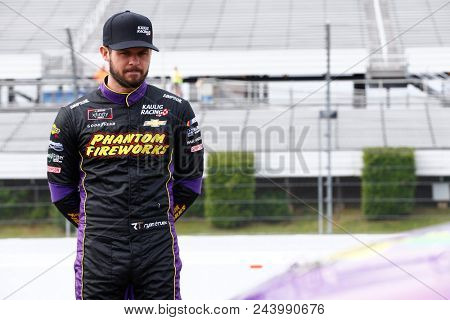 June 02, 2018 - Long Pond, Pennsylvania, USA: Ryan Truex (11) hangs out on pit road before qualifying for the Pocono Green 250 at Pocono Raceway in Long Pond, Pennsylvania.