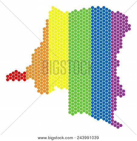 A Dotted Lgbt Democratic Republic Of The Congo Map For Lesbians, Gays, Bisexuals, And Transgenders.