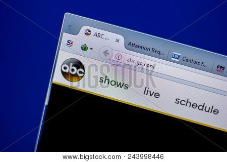 Ryazan, Russia - June 05, 2018: Homepage Of Abc Website On The Display Of Pc, Url - Abc.go.com