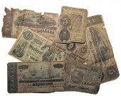 "Currency from the U.S. Revolutionary War and the U.S. Civil War. Real ""Old Money"". poster"
