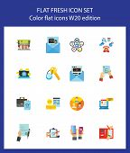 Communication icon set. Can be used for topics like documentation, communication, correspondence, information poster