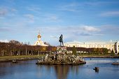 Big fountain in old park Peterhof (Petergof) Russia poster