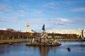 Big fountain in old park Peterhof (Petergof) Russia poster