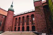 The beautiful and magnificent Stockholm City Hall. Home to the Blue Hall where the Nobel Prize ceremony takes place. In 1903 a architectural competition was announced and constructions started 1913. poster
