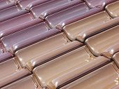 colored roof tiles – a background poster