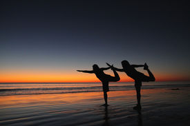 Dancers at sunset