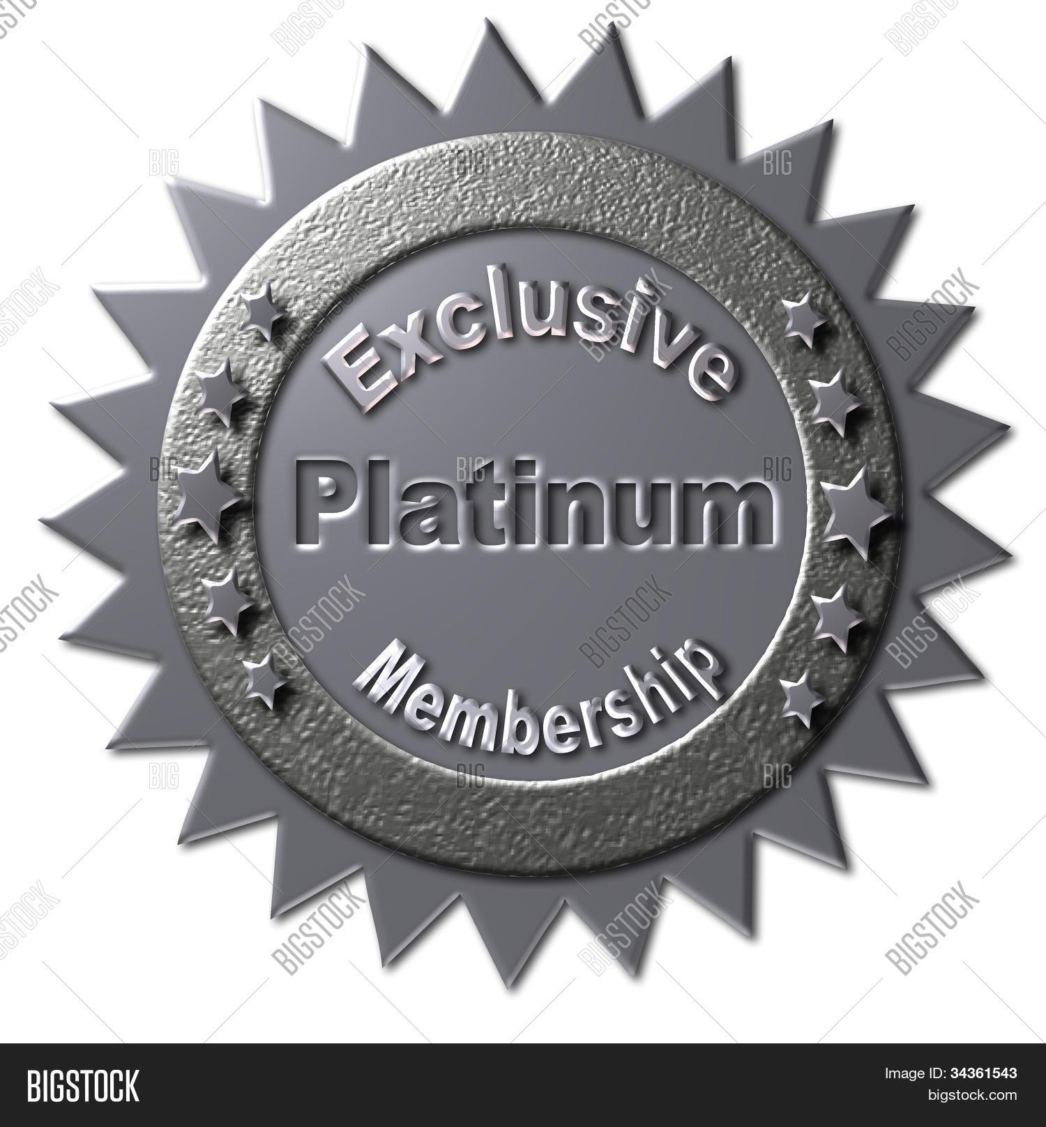 Exclusive Platinum: Exclusive Platinum Membership Image & Photo
