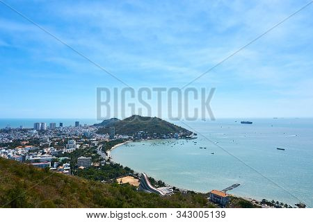View Over Vung Tau From Cable Car To Ho May Park