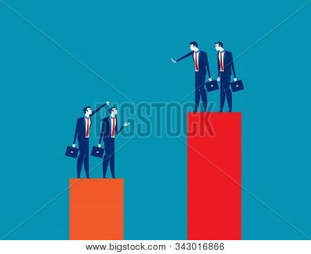 Business Team Envy Another People Team. Concept Business Vector Illustration, Growth, Development, C