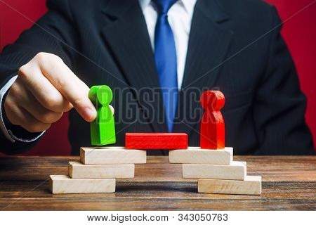 The Man Provides The Conditions For Negotiations And Conflict Resolution Between Opponents. Confront