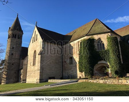 Kloster Lorch Monastery In Germany Where Irene Of Byzantium Is Buried. Her Grave Was Destroyed And C