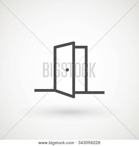 Open Door Icon Vector Logo Design Template Door Icon In Trendy Flat Style Isolated On White Backgrou