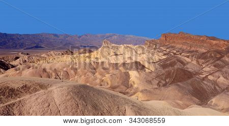 Beautiful Vista From Zabirskie Point, Death Valley National Park, California.