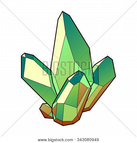Vector Illustration With Colorful Cristal. Decorative Symbol.