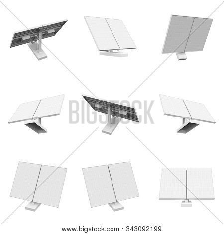 Solar Collector Isolated On The White Background 3d Rendering