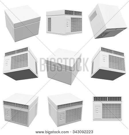 Conditioner Isolated On The White Background 3d Rendering