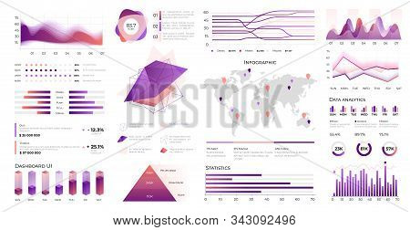 Infographic Ui. Data Visualization With Statistic Charts And Business Diagrams On Infographic Dashbo
