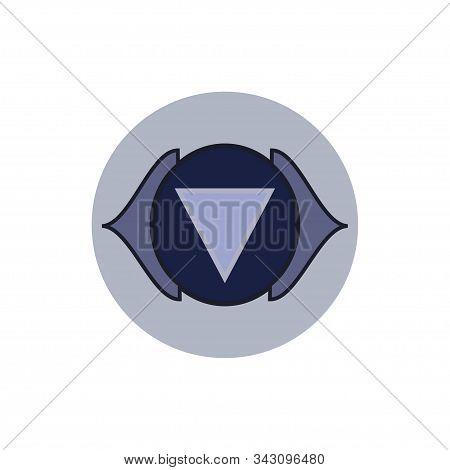 Ajna. Third Eye Chakra. Sixth Chakra Symbol Of Human. Vector Illustration Isolated On  White Backgro