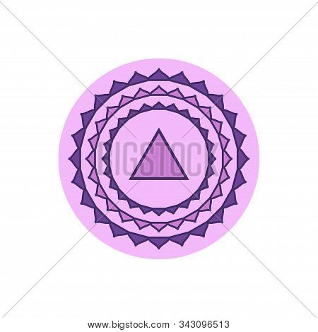 Sahasrara.crown Chakra.seventh Chakra Symbol Of Human. Vector Illustration Isolated On White Backgro