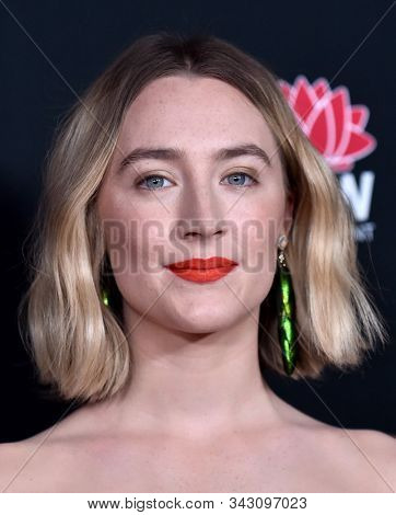 LOS ANGELES - JAN 03:  Saoirse Ronan arrives for the AACTA International Awards 2020 on January 03, 2020 in West Hollywood, CA
