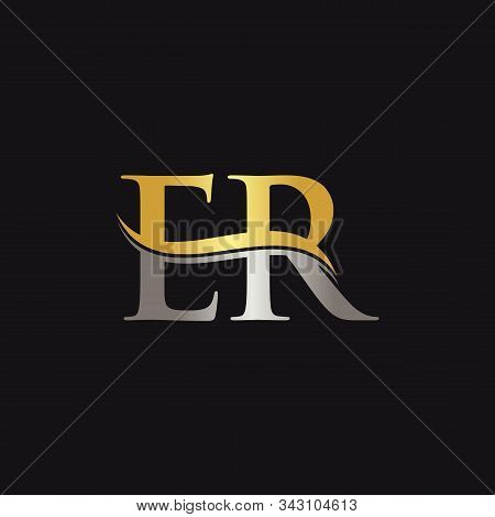 Initial Er Letter Linked Logo Business Vector Template. Swoosh Letter Er Logo Design
