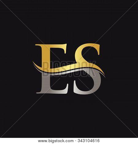 Initial Es Letter Linked Logo Business Vector Template. Swoosh Letter Es Logo Design