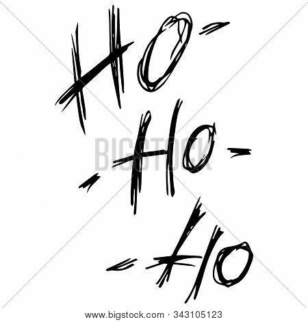 Lettering Ho-ho-ho. Vector Inscription