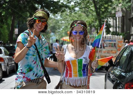 youth at gay pride march