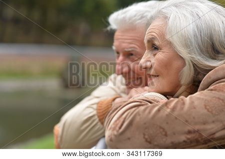 Close Up Portrait Of Beautiful Senior Couple Posing