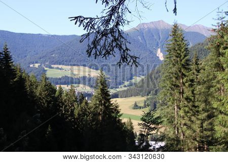 Landscape With Verdant Hills In Northern Italy