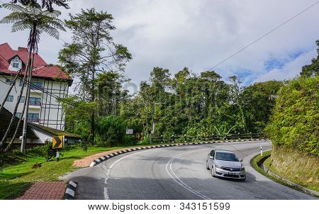 Pahang, Malaysia - Jun 22, 2014. Mountain Road On Cameron Highlands. Cameron Is The Most Popular Of