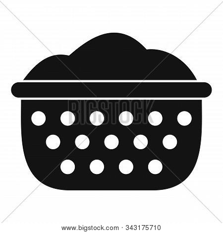Sieve Icon. Simple Illustration Of Sieve Vector Icon For Web Design Isolated On White Background