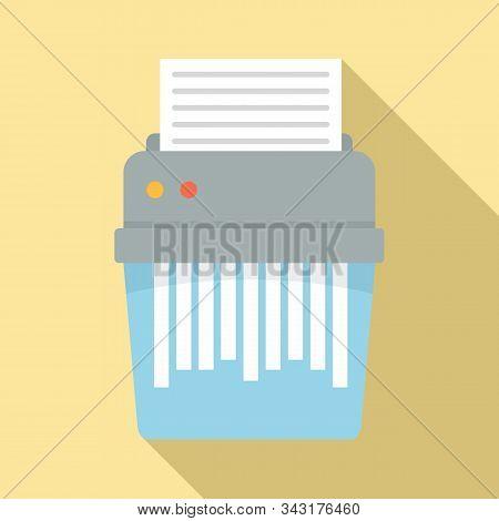 Shredder Icon. Flat Illustration Of Shredder Vector Icon For Web Design