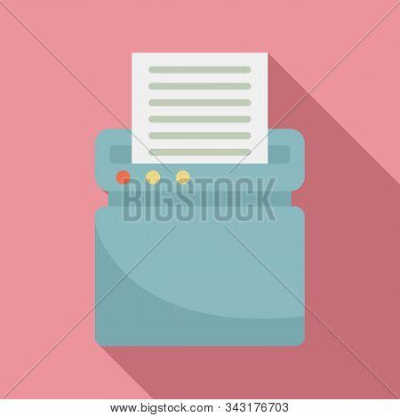 Safety Shredder Icon. Flat Illustration Of Safety Shredder Vector Icon For Web Design