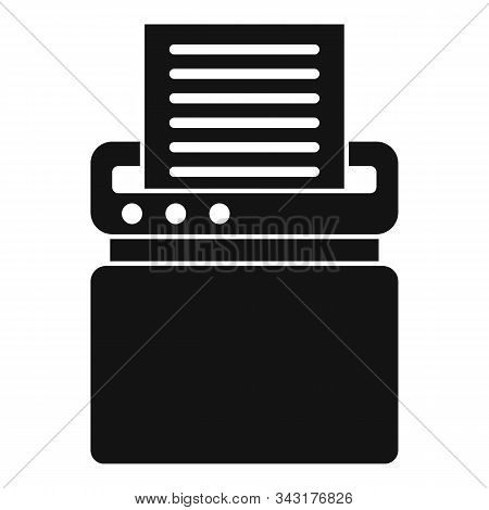 Safety Shredder Icon. Simple Illustration Of Safety Shredder Vector Icon For Web Design Isolated On