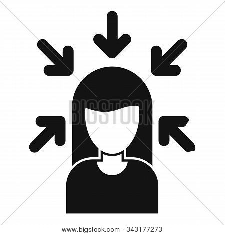Woman Buyer Icon. Simple Illustration Of Woman Buyer Vector Icon For Web Design Isolated On White Ba
