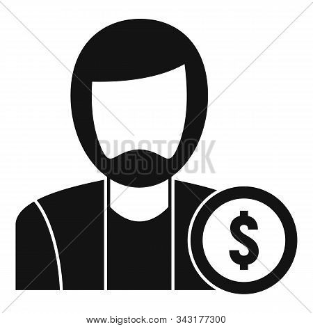 Man Buyer Icon. Simple Illustration Of Man Buyer Vector Icon For Web Design Isolated On White Backgr