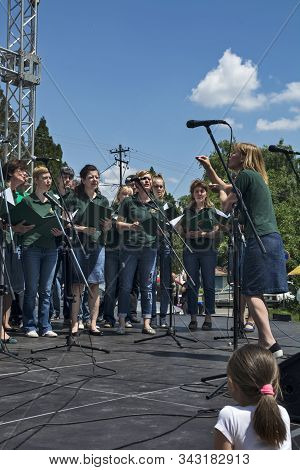 Zrenjanin, Serbia, May 27, 2017. Choir Competition At Ethno Festival In Zrenjanin. The