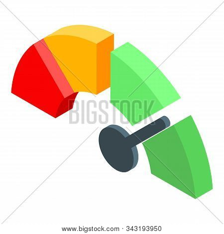 Better Credit Score Icon. Isometric Of Better Credit Score Vector Icon For Web Design Isolated On Wh