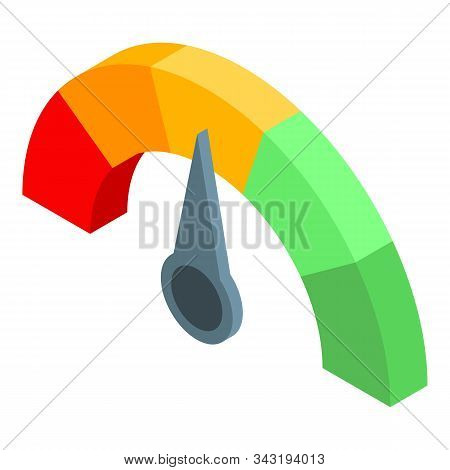 Choice Credit Score Icon. Isometric Of Choice Credit Score Vector Icon For Web Design Isolated On Wh