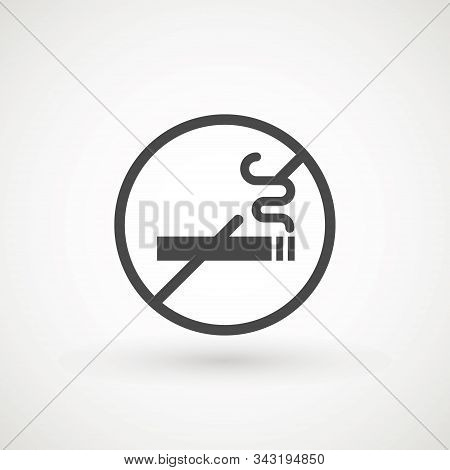 No Smoking Icon Vector Cigarette Icon Vector Illustration Great For Any Use. Smoke Icon Isolated Sig