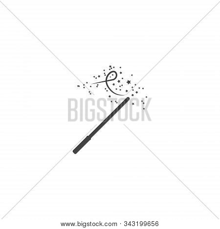 Vector Magic Wand Icon On White Isolated Background.