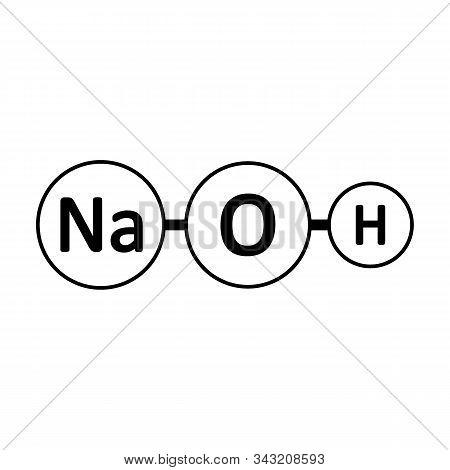 Sodium Hydroxide Molecule Icon On White Background. Vector Illustration.